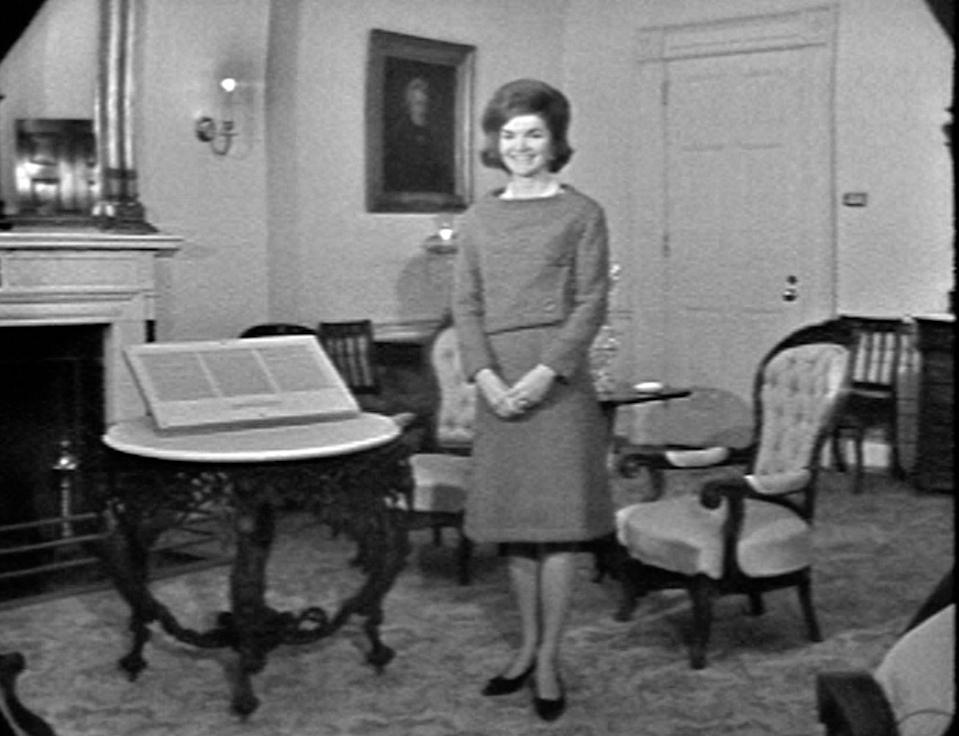 """<p>Jackie's sense of style was not limited to fashion. She launched a massive <a href=""""http://www.history.com/news/10-things-you-may-not-know-about-jacqueline-kennedy-onassis"""" rel=""""nofollow noopener"""" target=""""_blank"""" data-ylk=""""slk:remodel"""" class=""""link rapid-noclick-resp"""">remodel</a> of the entire white house. She created the Fine Arts Committee for the White House, to which private donors issued huge sums of money. As a result, she decorated the White House with artifacts otherwise exclusive to museums. The results were so impressive that CBS asked to film a special, which earned Jackie an Emmy Award in 1962. </p>"""