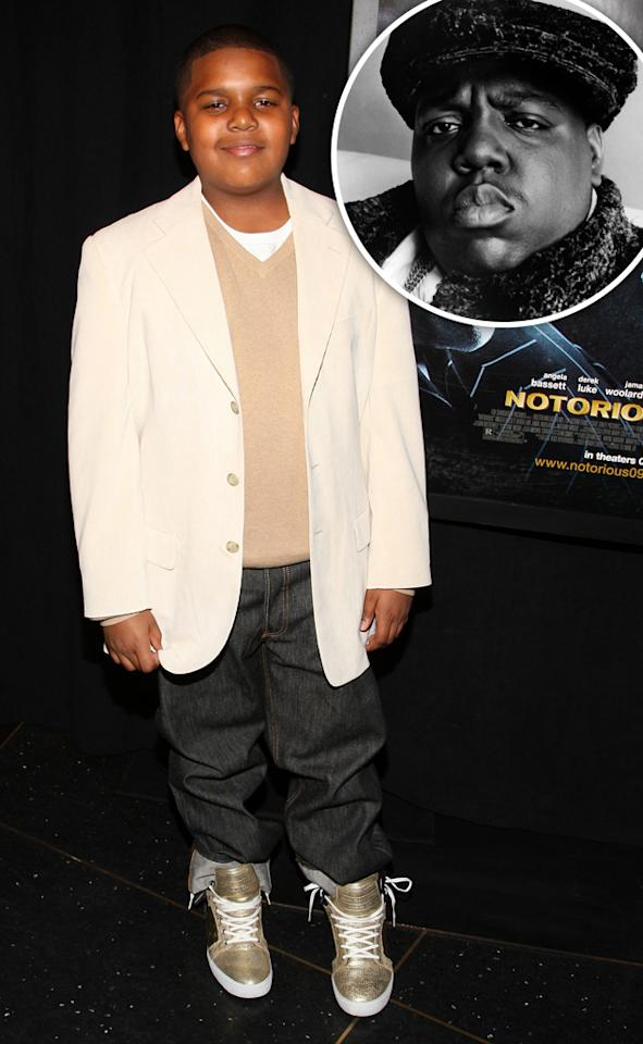 "Christopher Jordan Wallace aka CJ made his acting debut in 2009, portraying his late father, hip-hop great, the Notorious B.I.G. in the film "" Notorious ."" CJ's mother is Biggie's ex-wife, R&B singer Faith Evans. The 15-year-old's incredible performance helped him earn a role opposite comedian Will Ferrell in the 2010 film, "" Everything Must Go ."" (Photo by Bryan Bedder/Getty Images.)"