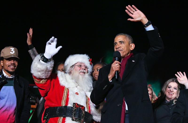 Barack Obama Dressed Up As Too-Cool-For-School Santa For His Latest Appearance
