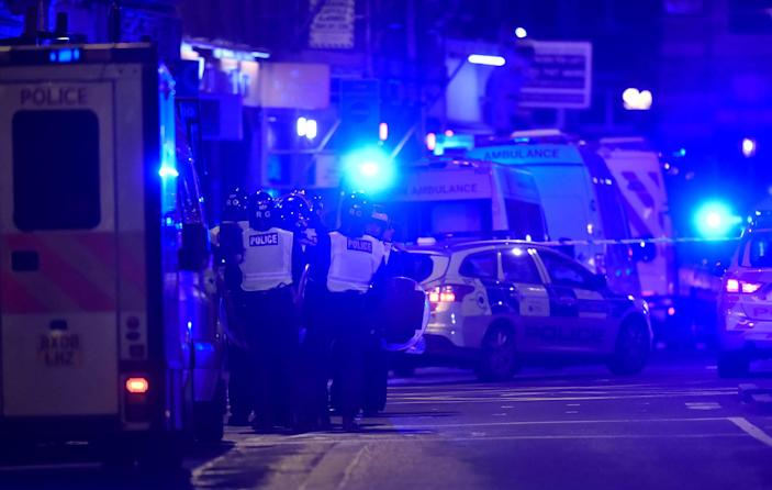 <p>Police attend to an incident on London Bridge in London, Britain, June 3, 2017. (Reuters/Hannah McKay) </p>