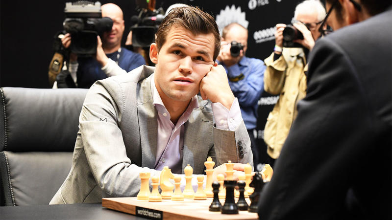 Magnus Carlsen is not only the Chess World Champ but was also briefly leading seven million players in Fantasy Premier League. (Getty Images)