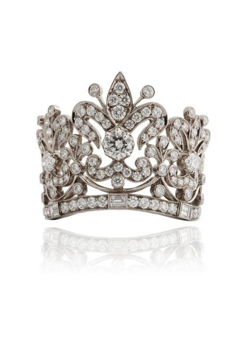 "<p><em><strong>Lydia Courteille</strong> ""Crown Ring"" with diamonds in 18K gold, <br> price upon request, <a href=""http://Lydiacourteille.com"" rel=""nofollow noopener"" target=""_blank"" data-ylk=""slk:lydiacourteille.com"" class=""link rapid-noclick-resp"">lydiacourteille.com</a>.</em></p><p><a class=""link rapid-noclick-resp"" href=""http://Lydiacourteille.com"" rel=""nofollow noopener"" target=""_blank"" data-ylk=""slk:SHOP"">SHOP</a></p>"