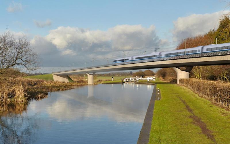 The high speed rail line, which will run through the West Midlands, will open in 2026 - HS2