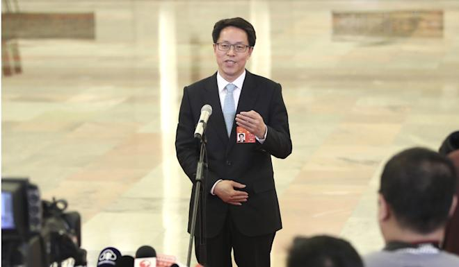 Zhang Xiaoming wrote a 6,000-word-plus article about the situation in Hong Kong. Photo: Xinhua