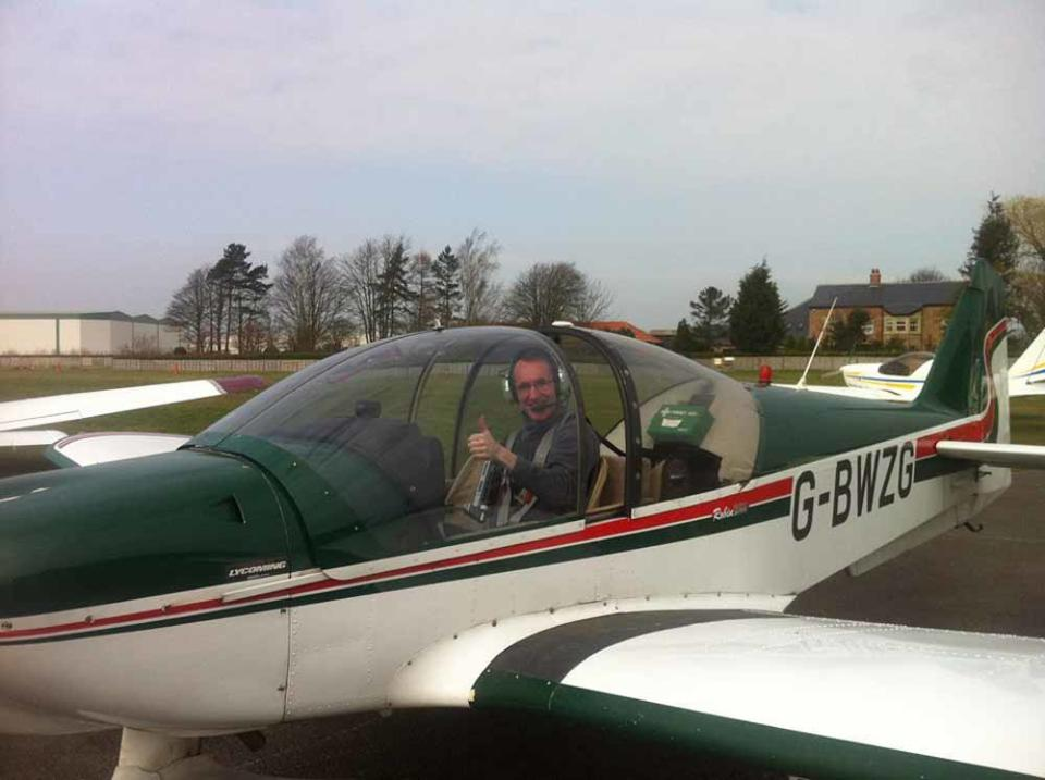 Steve became a pilot in 2015 to conquer his fear of heights (Collect/PA Real Life).