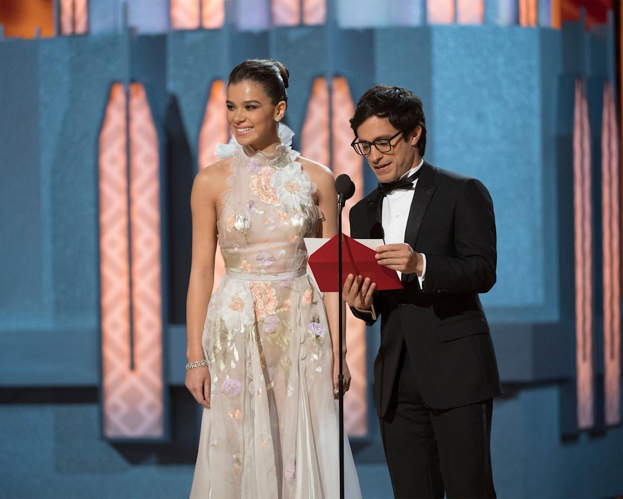 """Gael Garc&iacute;a Bernal took the Oscar stage to present the Academy Award&nbsp;for Best Animated Feature Film, but before revealing the winner, the Mexican actor <a href=""""http://www.huffingtonpost.com/entry/gael-garc%C3%ADa-bernal-denounces-trumps-border-wall-in-powerful-oscars-moment_us_58b3994fe4b0a8a9b7836dcf"""" rel=""""nofollow noopener"""" target=""""_blank"""" data-ylk=""""slk:took a moment to publicly denounce Trump's proposed border&nbsp;wall."""" class=""""link rapid-noclick-resp"""">took a moment to publicly denounce Trump's proposed border&nbsp;wall.</a><br><br>&ldquo;Flesh and blood actors are migrant workers; we travel all over the world, we build families, we construct stories, we build life that cannot be divided,&rdquo; <a href=""""http://www.huffingtonpost.com/entry/gael-garc%C3%ADa-bernal-denounces-trumps-border-wall-in-powerful-oscars-moment_us_58b3994fe4b0a8a9b7836dcf"""" rel=""""nofollow noopener"""" target=""""_blank"""" data-ylk=""""slk:Garc&iacute;a Bernal said."""" class=""""link rapid-noclick-resp"""">Garc&iacute;a Bernal said.</a> &ldquo;As a Mexican, as a Latin American, as a migrant worker, as a human being, I&rsquo;m against any form of wall that wants to separate us."""""""