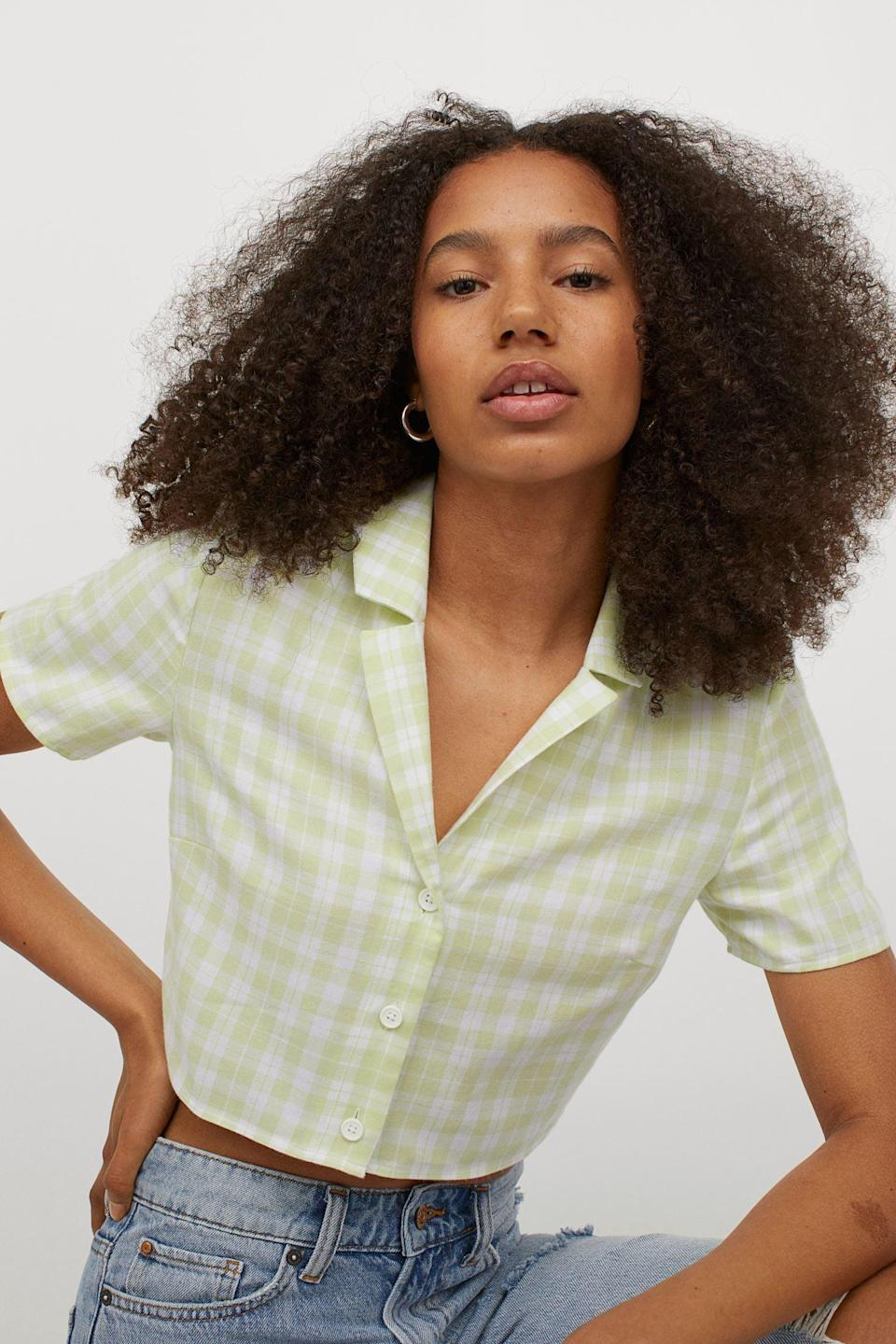 <p>This <span>Crop Shirt</span> ($15) is the everyday top you'll find yourself falling in love with.</p>