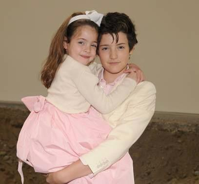 Lily Brant and Harry Brant when they were kids