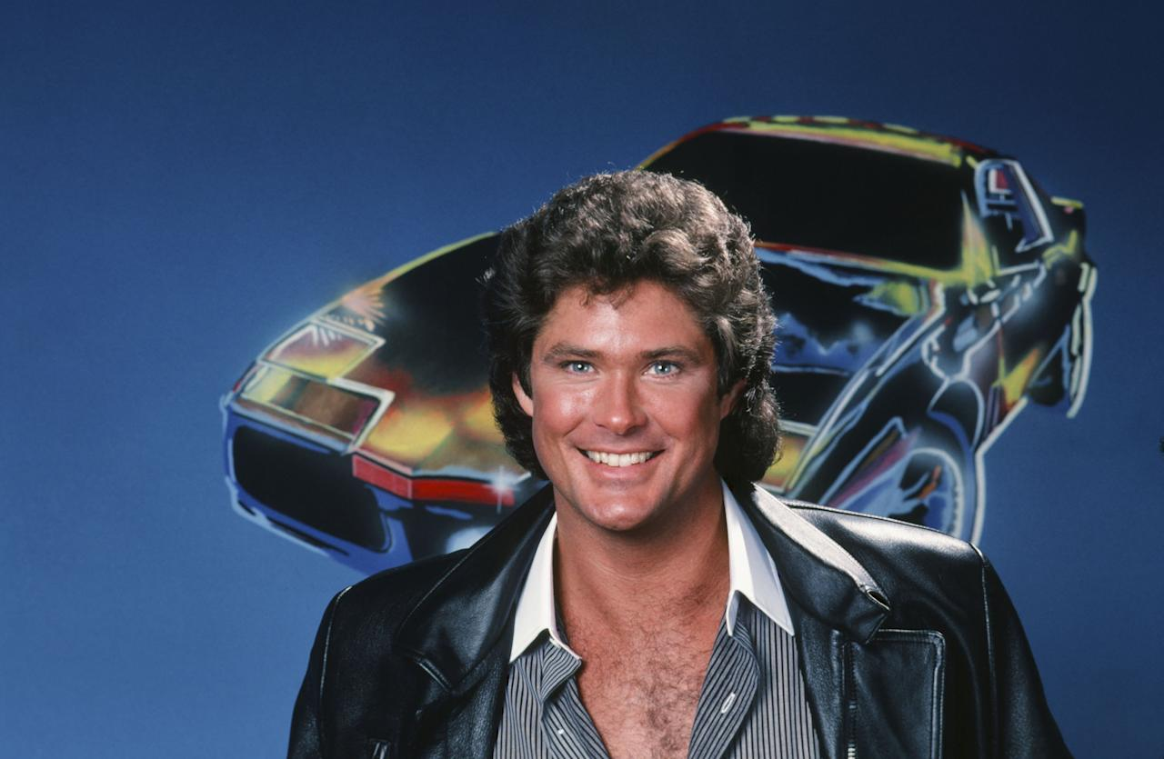 KNIGHT RIDER -- Season 2 -- Pictured: David Hasselhoff as Michael Knight -- Photo by: Herb Ball/NBCU Photo Bank