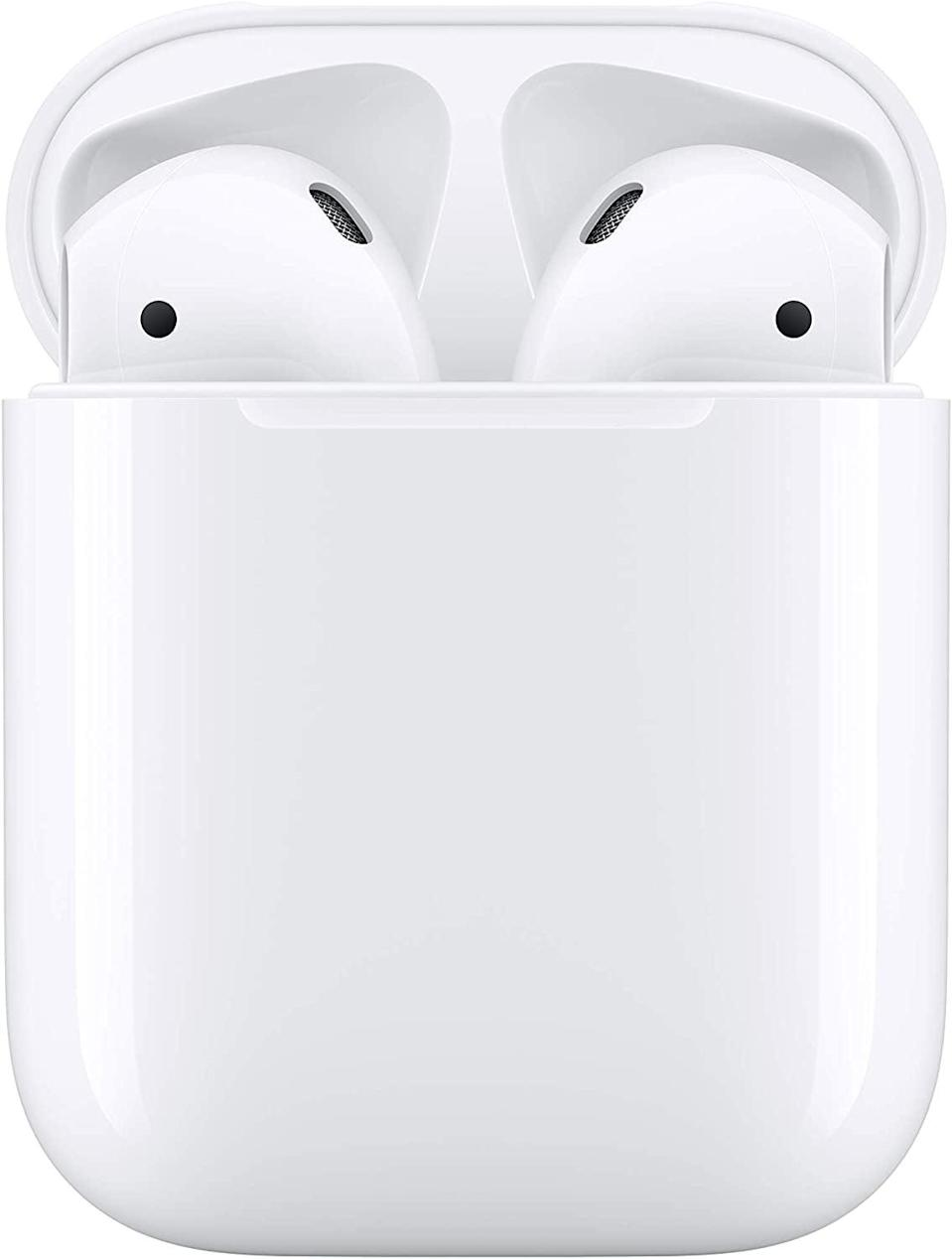<p><span>Apple AirPods With Charging Case</span> ($115, originally $159)</p>