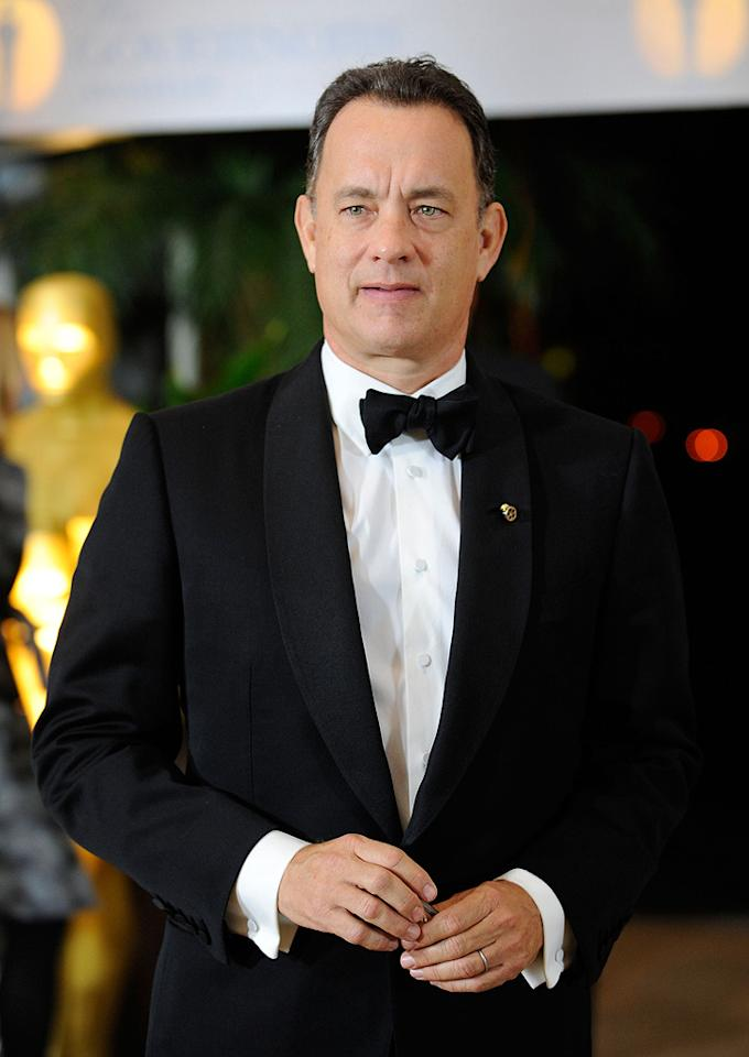 """<a href=""""http://movies.yahoo.com/movie/contributor/1800010392"""">Tom Hanks</a> at the Academy of Motion Picture Arts and Sciences' Inaugural Governors Awards - 11/14/2009"""