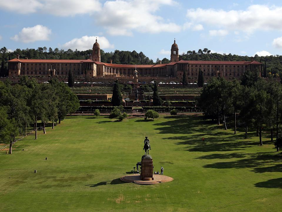 A general view of the Union Building is seen in Pretoria, South Africa.