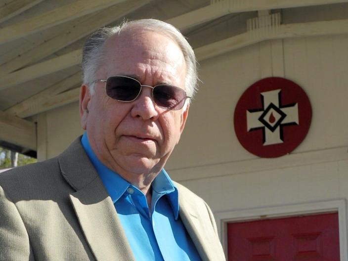 "Thomas Robb, the director of the ""Knights Party"" of the Ku Klux Klan, in 2015."