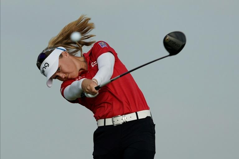 Brooke Henderson shot the lowest round in the field so far to reach the halfway mark at 11 strokes under par