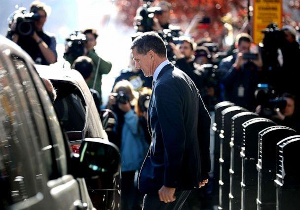 PHOTO: Michael Flynn, former national security advisor to President Donald Trump, leaves following his plea hearing at the Prettyman Federal Courthouse in Washington, Dec. 1, 2017. (Chip Somodevilla/Getty Images, FILE)
