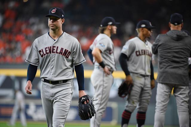 "<a class=""link rapid-noclick-resp"" href=""/mlb/players/9048/"" data-ylk=""slk:Corey Kluber"">Corey Kluber</a> is on the shelf — but does he still hold trade value? (AP Photo/David J. Phillip)"