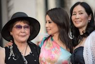 <p>Lucy Liu grew up in Queens, New York City with her sister, Jenny. The actress was joined by her older sister during her Hollywood Walk of Fame tribute, and the family resemblance is visible.</p>