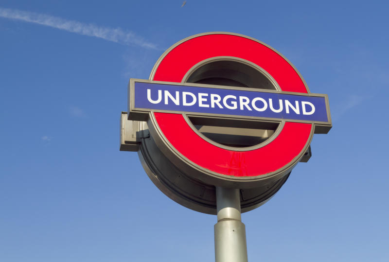 """London, UK - August 1, 2011: Image of traditional London Underground Sign."""