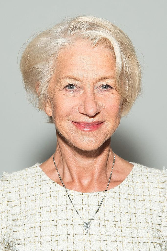 Dame Helen Mirren attends the Badgley Mischka fashion show during Spring 2016 New York Fashion Week at The Arc, Skylight at Moynihan Station on September 15, 2015 in New York City. (Photo by Michael Stewart/WireImage)