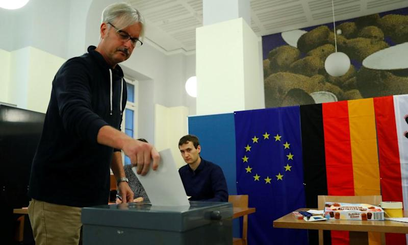 Voting in Berlin on Sunday.
