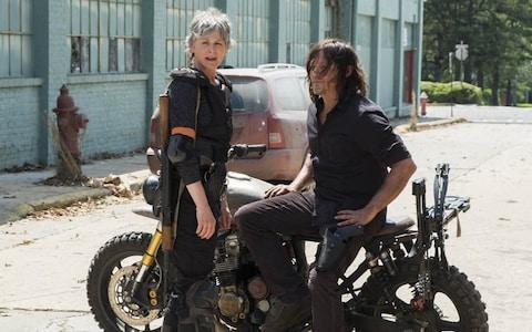 Melissa McBride and Norman Reedus - Credit: AMC