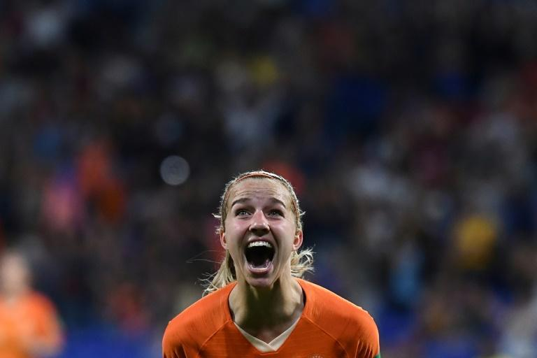Jackie Groenen scored Wednesday's winner with her first shot on target (AFP Photo/FRANCK FIFE)