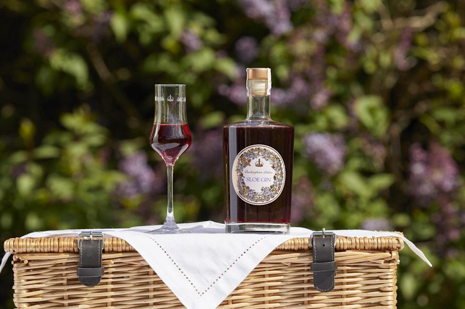 """<p>Quite a few liquors are made from the royal residences' gardens, and this Buckingham Palace sloe gin makes an elegant and tasty present.</p> <p><strong>Buckingham Palace Sloe Gin, <a href=""""https://www.royalcollectionshop.co.uk/buckingham-palace-sloe-gin.html"""" rel=""""nofollow noopener"""" target=""""_blank"""" data-ylk=""""slk:$43"""" class=""""link rapid-noclick-resp"""">$43</a></strong></p>"""