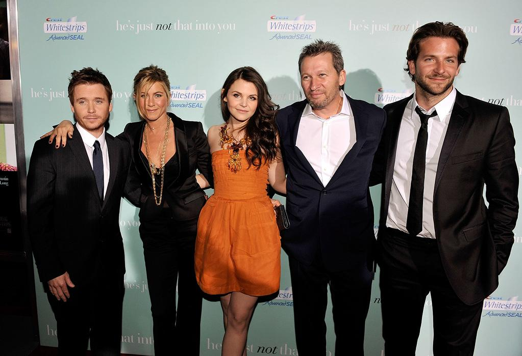 """<a href=""""http://movies.yahoo.com/movie/contributor/1800314582"""">Kevin Connolly</a>, <a href=""""http://movies.yahoo.com/movie/contributor/1800021397"""">Jennifer Aniston</a>, <a href=""""http://movies.yahoo.com/movie/contributor/1808398021"""">Ginnifer Goodwin</a>, director <a href=""""http://movies.yahoo.com/movie/contributor/1800021434"""">Ken Kwapis</a> and <a href=""""http://movies.yahoo.com/movie/contributor/1804751131"""">Bradley Cooper</a> at the Los Angeles premiere of <a href=""""http://movies.yahoo.com/movie/1809932969/info"""">He's Just Not That Into You</a> - 02/02/2009"""