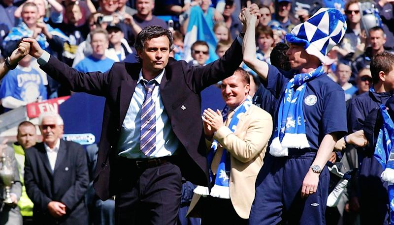 Jose Mourinho's career saw him win trophies at Chelsea (pictured), Inter Milan, Real Madrid and Manchester United. But his launchpad was the 2004 Champions League crown with Porto. (Photo by Rebecca Naden - PA Images/PA Images via Getty Images)