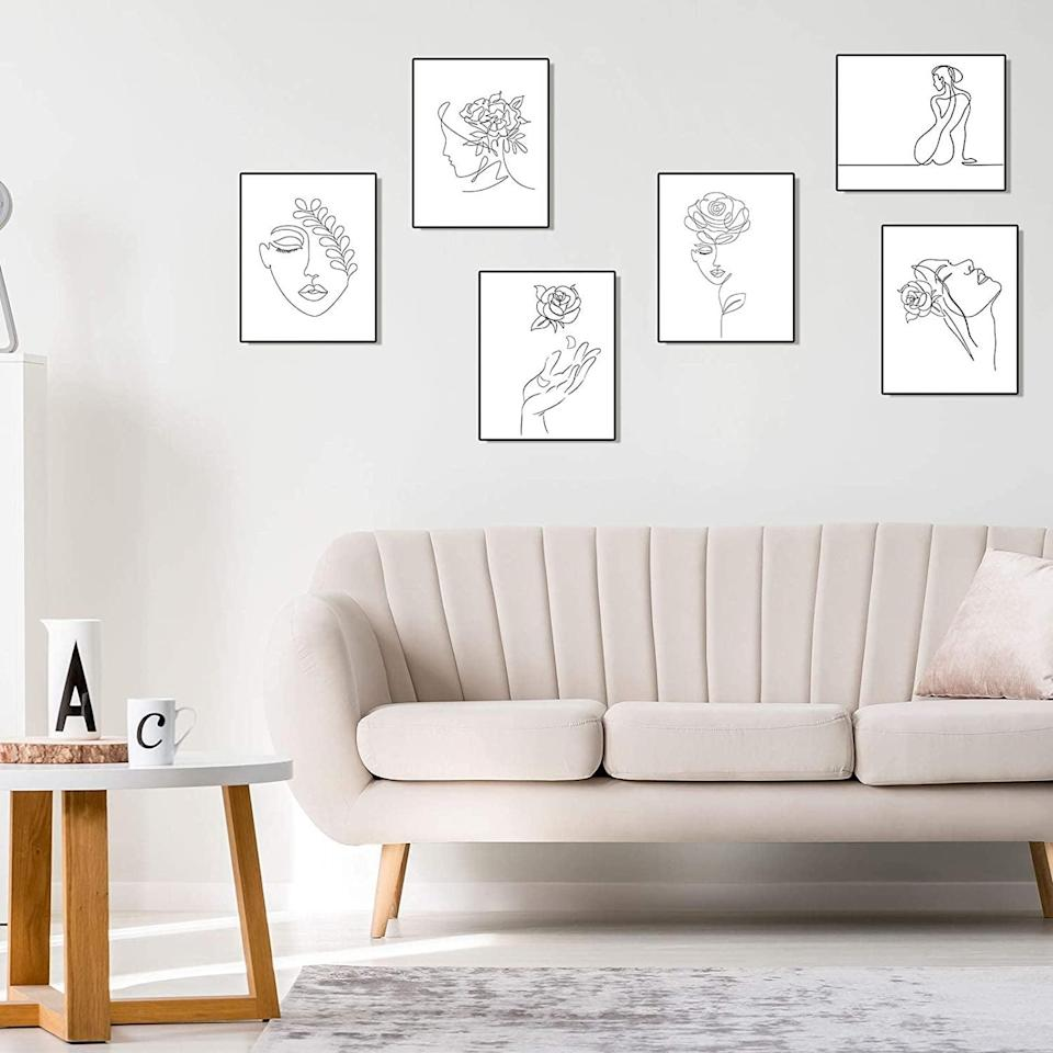 <p>These <span>Zonon 9-Piece ArtPrints</span> ($10) will appeal to your minimalist side.</p>