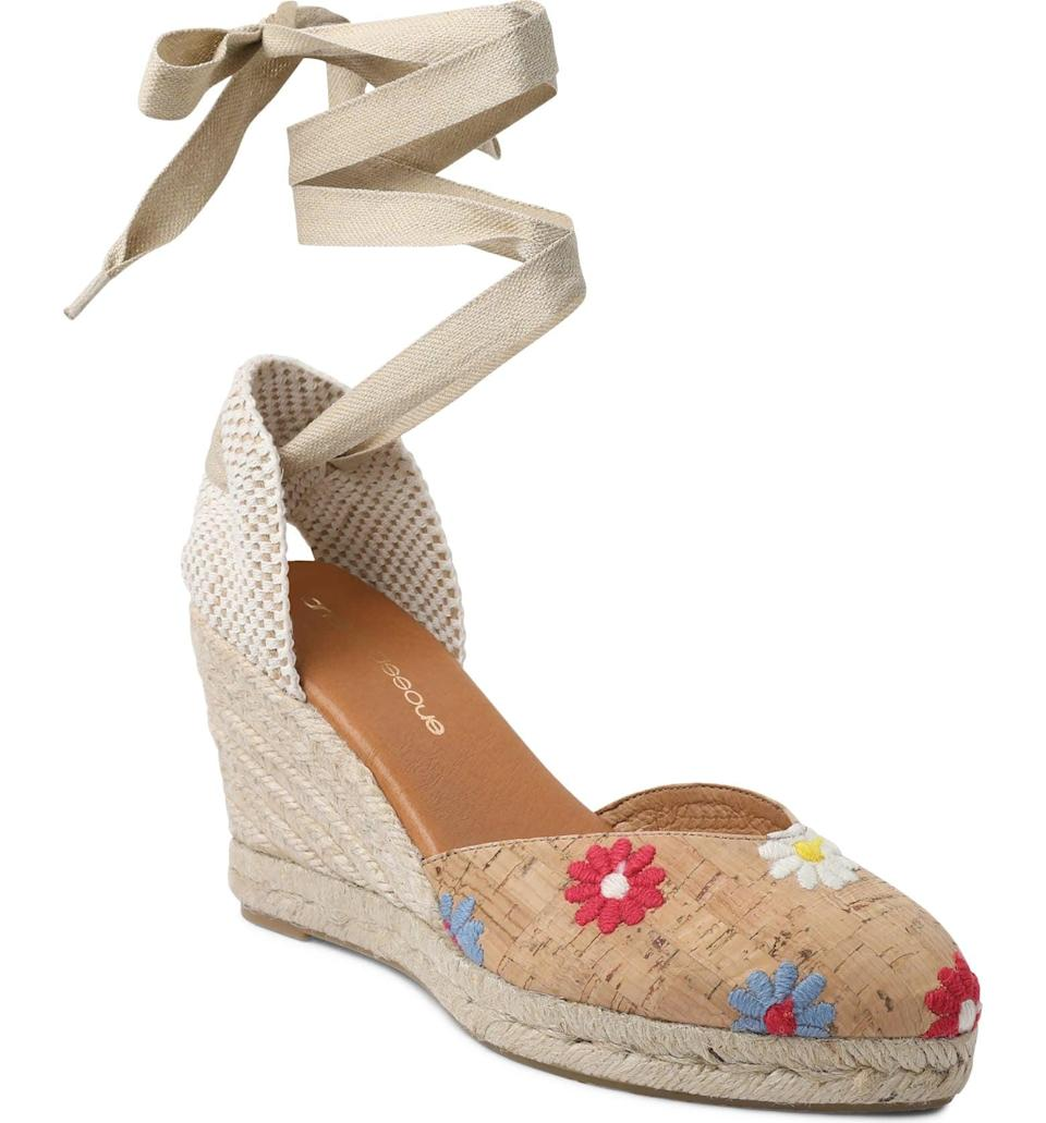 <p>Get ready for beach days in this statement <span>André Assous Ensley Embroidered Espadrille Wedge Sandal</span> ($149). The floral inserts make it a playful summer must-have.</p>