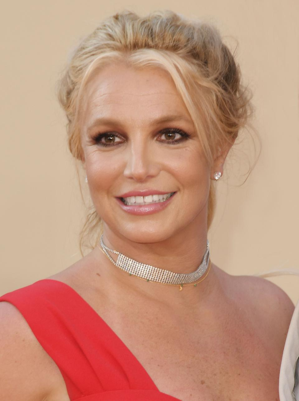 Britney Spears arrives at the ONCE UPON A TIME...IN HOLLYWOOD World Premiere held at the TCL Chinese Theatre in Hollywood, CA on Monday, July 22, 2019. (Photo By Sthanlee B. Mirador/Sipa USA)