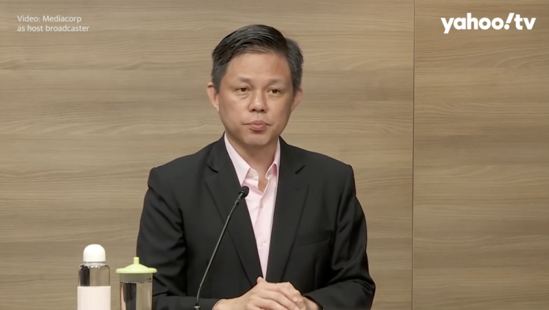 (SCREENSHOT: Trade and Industry Minister Chan Chun Sing/Mediacorp)
