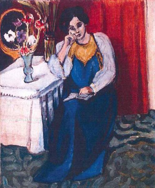 "FILE -This is an unfated photo released by the police in Rotterdam, Netherlands, on Tuesday, Oct. 16, 2012, shows the 1919 painting 'Reading Girl in White and Yellow' by Henri Matisse. A Romanian museum is analyzing ashes found in a stove to see if they are the remains of seven paintings by Picasso, Matisse, Monet and others that were stolen last year from the Netherlands, an official said Tuesday July 16, 2013. Matisse's ""Reading Girl in White and Yellow"" was one of the stolen paintings. (AP Photo/Police Rotterdam, File)"
