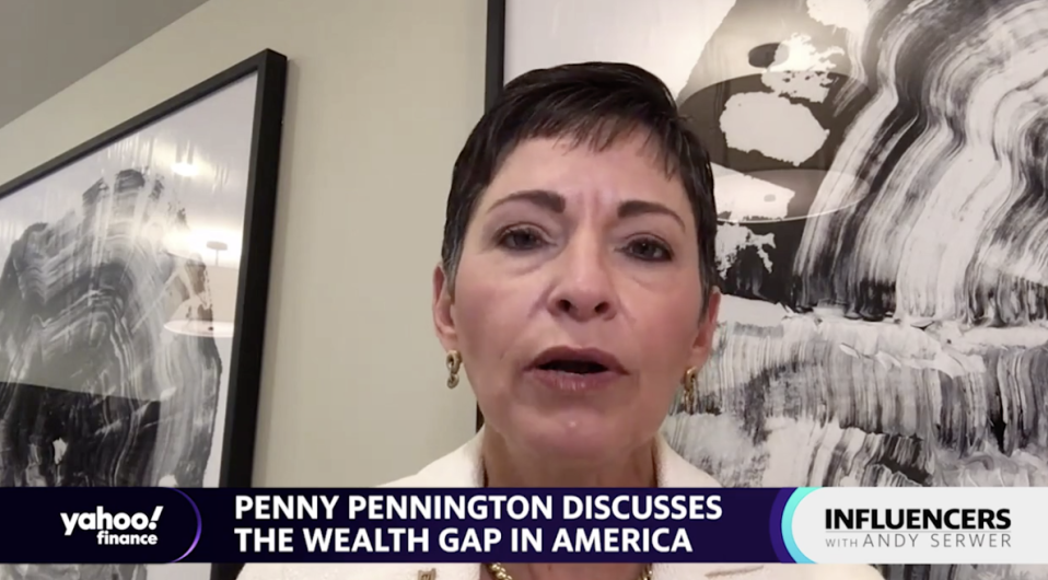 """Edward Jones Managing Partner Penny Pennington appears on """"Influencers with Andy Serwer."""""""