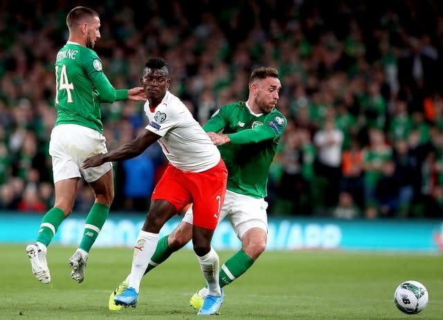 Switzerland's Breel Embolo (centre) impressed during the 1-1 draw with the Republic of Ireland in Dublin (Brian Lawless/PA)