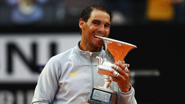 Rafael Nadal said a rain break gave him time to consider a different approach after he turned the tide to beat Alexander Zverev in Rome.