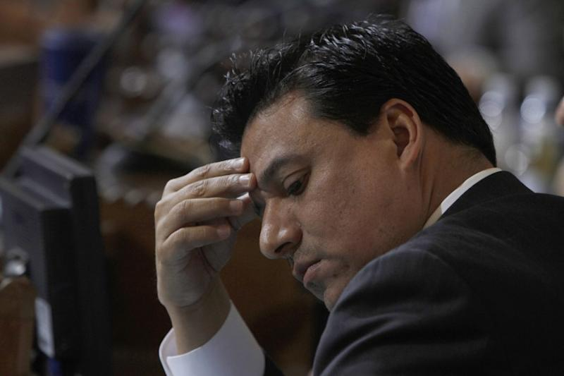 Los Angeles City Councilman Jose Huizar, shown at a council meeting in February, has been accused by a former aide of sexual harassment.