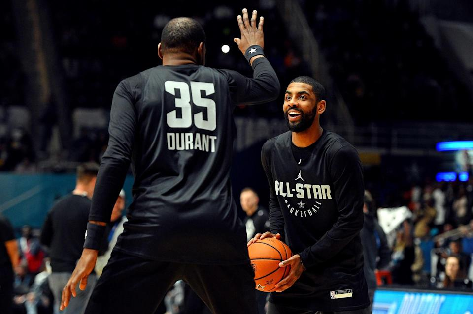 Remember when Golden State Warriors forward Kevin Durant and Boston Celtics point guard Kyrie Irving acted like best friends last month in Charlotte during 2019 NBA All-Star Weekend? Well, it sounds like they've kept in touch quite a bit since that event.