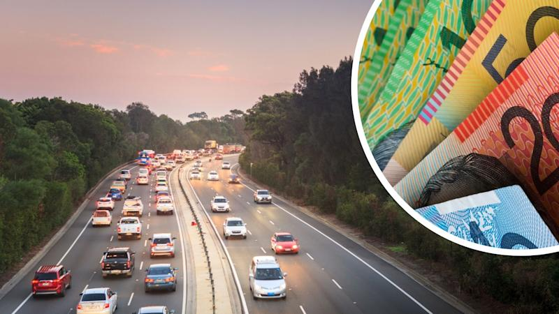 Australian highway with cars, Australian cash suggesting car insurance Images: Getty