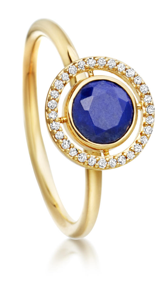 "<p><i><a href=""http://www.astleyclarke.com/uk/lapis-celestial-fine-biography-ring-14ct-yellow-gold-37056ynvr"">Astley Clarke, £595  </a></i></p>"