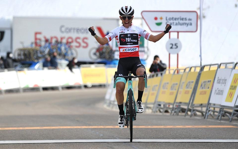 Esteban Chaves wins stage four as Adam Yates retains Volta a Catalunya lead - David Ramos