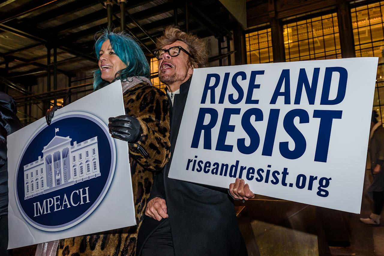"""<p><span>Protests sprang up in more than 20 countries on Trump's first day in office in January, with millions of people peacefully taking part in the global Women's March. The trend continued <strong><a rel=""""nofollow"""" href=""""https://uk.news.yahoo.com/inauguration-video-captures-moment-anti-174423787.html"""">throughout the rest of the year</a></strong>. Global protests voiced opposition to <strong><a rel=""""nofollow"""" href=""""https://uk.news.yahoo.com/apos-targeted-apos-trump-travel-212445271.html"""">the Trump's travel ban</a></strong> and decision to withdraw from the Paris agreement. Localised protests also followed the President on his overseas visits with the notable exception of Saudi Arabia – where protesting is punishable by death. </span> </p>"""