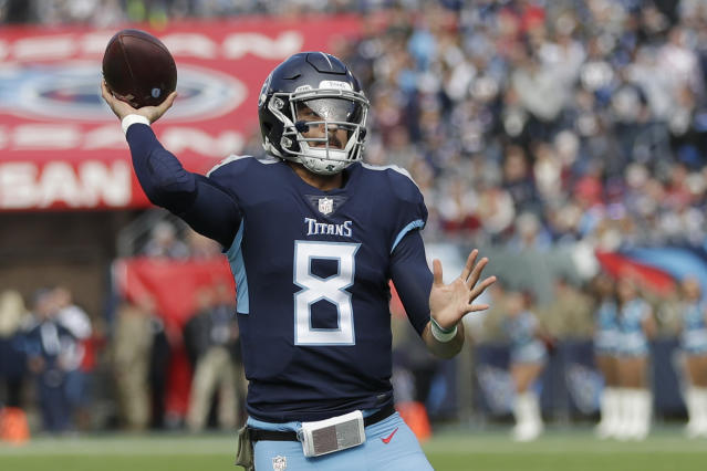 Tennessee Titans quarterback Marcus Mariota is a strong Week 11 start (AP Photo).