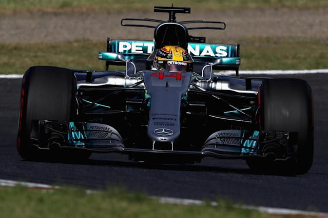 Lewis Hamilton won in Suzuka from pole position