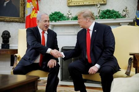 FILE PHOTO: U.S. President Trump meets with Israel's Prime Minister Netanyahu at the White House in Washington