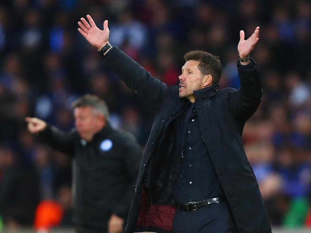 Diego Simeone's hard-working side had to suffer for this result at times, but eventually they progressed: Getty