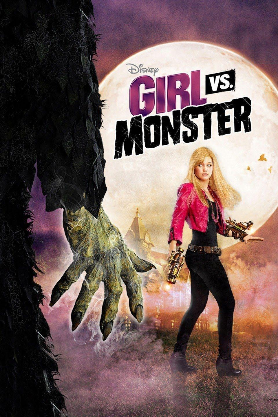"""<p>A tween (<strong>Olivia Holt</strong>) discovers that her parents are monster hunters, but when she accidentally releases a monster named Deimata, she must stop it before the monster hunts her parents and possesses Skylar's soul.</p><p><a class=""""link rapid-noclick-resp"""" href=""""https://go.redirectingat.com?id=74968X1596630&url=https%3A%2F%2Fwww.disneyplus.com%2Fmovies%2Fgirl-vs-monster%2F72ukYPILTnHp&sref=https%3A%2F%2Fwww.goodhousekeeping.com%2Flife%2Fentertainment%2Fg33651563%2Fdisney-halloween-movies%2F"""" rel=""""nofollow noopener"""" target=""""_blank"""" data-ylk=""""slk:WATCH NOW"""">WATCH NOW</a></p>"""