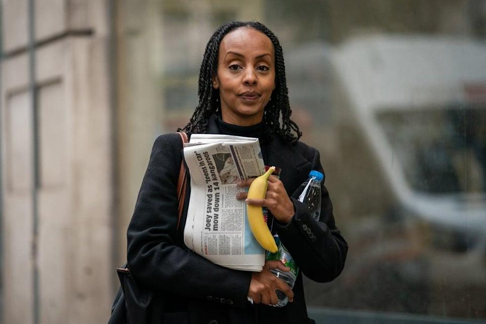 Semhar Tesfagiorgis arrives at the Central London Employment Tribunal (Aaron Chown/PA) (PA Wire)