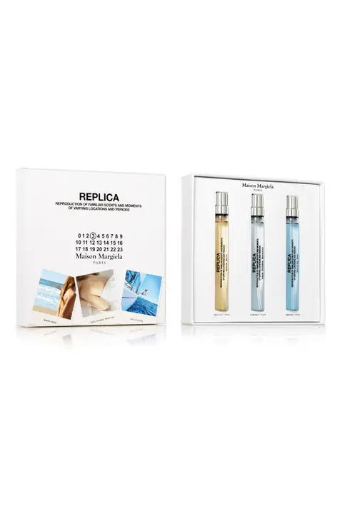 """For when your mom has better taste in perfume than you do. <br><br><strong>Maison Margiela</strong> Replica Travel Size Fragrance Trio, $, available at <a href=""""https://go.skimresources.com/?id=30283X879131&url=https%3A%2F%2Ffave.co%2F2VTIBwn"""" rel=""""nofollow noopener"""" target=""""_blank"""" data-ylk=""""slk:Nordstrom"""" class=""""link rapid-noclick-resp"""">Nordstrom</a>"""